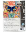 Dimensions 5\u0027\u0027x5\u0027\u0027 Stitched in Thread Needlepoint Kit-Butterfly Pattern