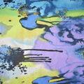 Fast Fashion Spandex Fabric-Turquoise Splatter