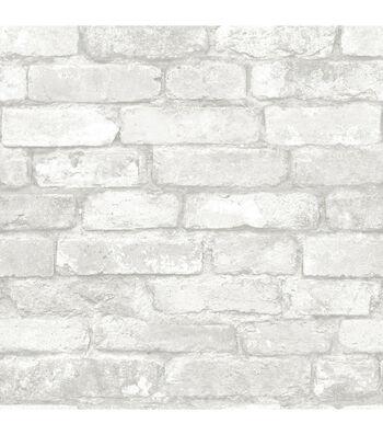 WallPops NuWallpaper Grey White Brick
