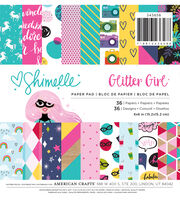 American Crafts Shimelle Glitter Girl 36-sheet 6''x6'' Paper Pad, , hi-res