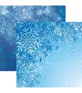 Jack Frost Double-Sided Cardstock 12\u0022X12\u0022-Snowflakes