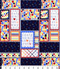 Nursery Flannel Fabric -Bright 123 Patchwork