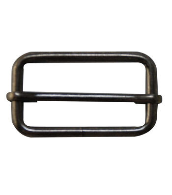 """Everything Mary Onyx 1.5"""" Rectangle Buckles-2pk"""