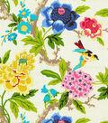 Waverly Print Fabric Swatch-Candid Moment/Gardenia