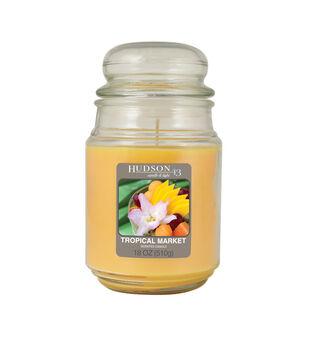 Hudson 43 Candle & Light Collection 18oz Value Jar Tropical Market