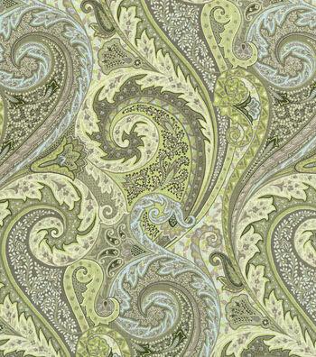 "Williamsburg Lightweight Decor Fabric 54""-Jaipur Paisley/Shade"
