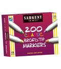 Sargent Art Washable Broad Tip Marker Assortment, 8 colors, 200 ct