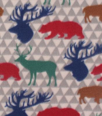 "3 Yard Pre-Cut Blizzard Fleece Fabric 59""-Multi Wilderness Print"