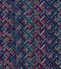 Modern Cotton Fabric -Wavy Diamond Lines