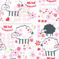 Nursery Flannel Fabric-Little Lambs
