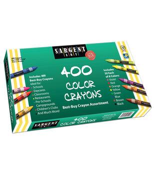 Sargent Art Crayon Set, Assorted Colors, Set of 400