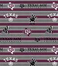 Texas A&M University Aggies Fleece Fabric 58\u0022-Polo Stripe