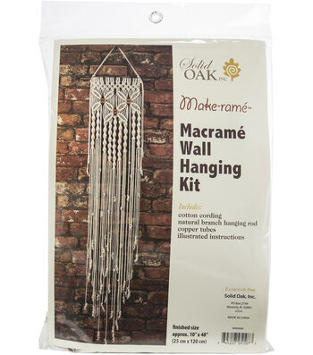 Macrame Wall Hanger Kit-Three Flowers
