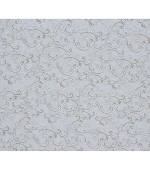 Keepsake Calico Cotton Fabric-Cream Scroll Texture
