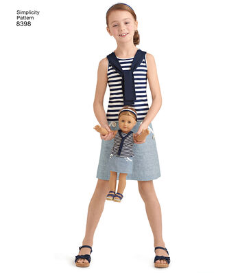Simplicity Pattern 8398 Children's Apparel & Tote Bag-Size A (3-8)