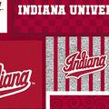 Indiana Hoosiers Fleece Fabric-College Patch