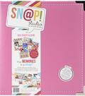 Sn@p! Leather Binder 6\u0022X8\u0022-Pink