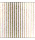 American Crafts Patterned Glitter Cardstock 12\u0022X12\u0022-Stripe 2/Gold