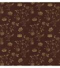 Giacamo Burgundy Jacobean Trail Wallpaper Sample