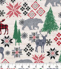 Christmas Cotton Fabric-Holiday Moose