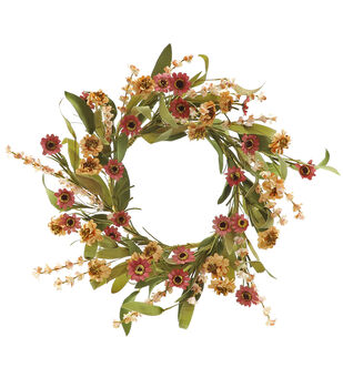 Blooming Autumn 20'' Wildflower Paper Wreath