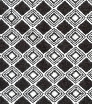 "3 Yard Pre-Cut Anti-Pill Fleece Fabric 57""-Black Diamond"