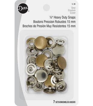"Dritz 5/8"" Heavy Duty Snaps-Antique Brass"