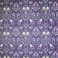 Premium Cotton Fabric-Dark Purple Maeve Bird Damask