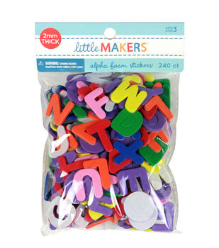 Little Makers Adhesive Foam Stickers-Alphabet