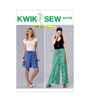 3ebf5b0e798378 Kwik Sew Pattern K4178 Misses  Wrap Shorts   Pants-Size XS-S-M-L-