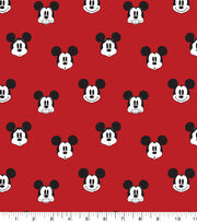 Disney Mickey Mouse Cotton Fabric-Mickey Faces, , hi-res