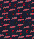 Cleveland Indians Cotton Fabric 58\u0022-Mini Print