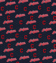 "Cleveland Indians Cotton Fabric 58""-Mini Print, , hi-res"