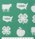 4-H Cotton Fabric-Logos