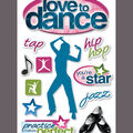 Paper House 3-D Sticker-Love To Dance