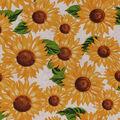 Harvest Cotton Fabric-Packed Sunflowers on Cream