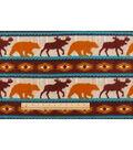 Anti-Pill Fleece Fabric 59\u0022-Bear Lodge Stripe