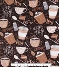 Anti-Pill Plush Fleece Fabric 58\u0022-Coffee Time
