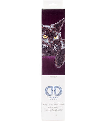 "Diamond Embroidery Facet Art Kit 13.7""X17""-Midnight Cat"