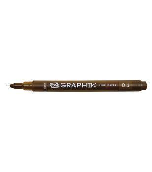 Derwent Graphik Line Maker Pen-Sepia