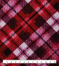 Keepsake Calico Cotton Fabric-Distressed Plaid Pink Red