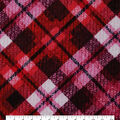 Keepsake Calico Cotton Fabric-Distressed Pink & Red Plaid