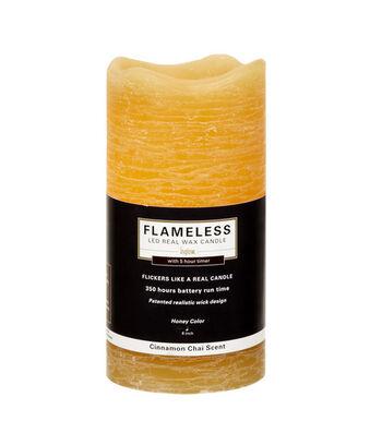 Inglow 3X6In Pillar Honey Flameless