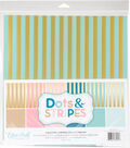 Double-Sided Collection Pack 12\u0022X12\u0022-Stripe & Gold