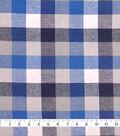 Cotton Shirting Fabric 42\u0027\u0027-Blue & White Checked