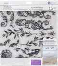 Iron Orchid Designs 15 pk Art Decor Fashion Clear Stamps-Flourished