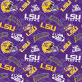 Louisiana State University Tigers Cotton Fabric-Tone on Tone