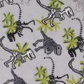 Anti-Pill Plush Fabric-Dinos on Gray