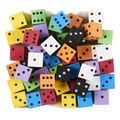 Koplow Games Foam Spot Dice, 1\u0022, Assorted Colors, Bag of 50
