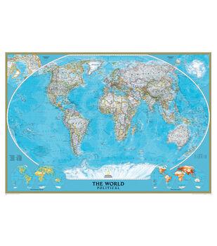 World Classic Wall Map, Mural